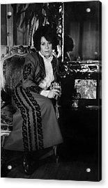 Portrait Of Artist Ruth Kligman Acrylic Print by Fred W. McDarrah