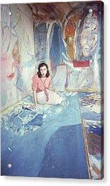 Portrait Of Helen Frankenthaler Acrylic Print by Gordon Parks