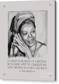 Portrait Of Maya Angelou Acrylic Print