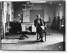 Portrait Of Philip Guston Acrylic Print by Fred W. McDarrah