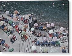 Positano Beach Acrylic Print by Slim Aarons