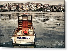 Postcard From Istanbul. Motor Boat By Acrylic Print