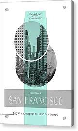 Poster Art San Francisco California Street Acrylic Print by Melanie Viola