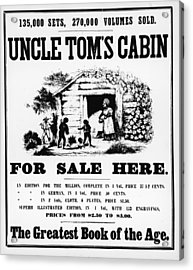 Poster For Uncle Toms Cabin Acrylic Print by Kean Collection