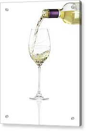 Pouring A Glass Of White Wine Acrylic Print by Steven Krug