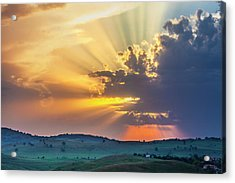Powerful Sunbeams Acrylic Print