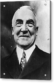 President Harding Acrylic Print by Topical Press Agency