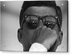 President Kennedy At San Luis Dam Acrylic Print by Michael Ochs Archives