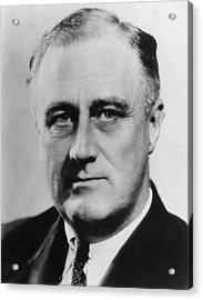 President Roosevelt Acrylic Print by Evening Standard