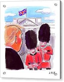 Presidential Visit To The Uk Acrylic Print