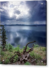 Priest Lake Light Acrylic Print by Leland D Howard