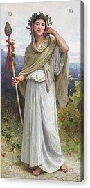 Priestess Of Bacchus, 1894 Acrylic Print