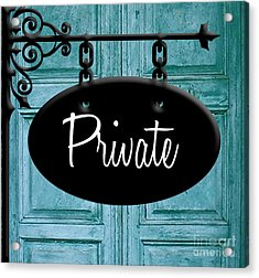 Private Acrylic Print