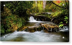 Acrylic Print featuring the photograph Provo Deer Creek Cascades by TL Mair