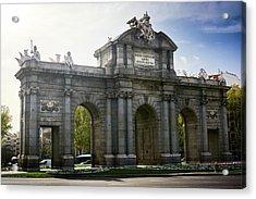 Puerta De Alcala In Madrid, Spain Acrylic Print