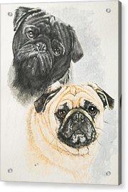Pug Brothers Acrylic Print