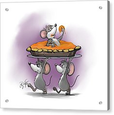 Pumpkin Pie Celebration Acrylic Print