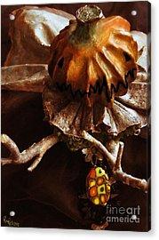 Pumpking Art Doll  Acrylic Print