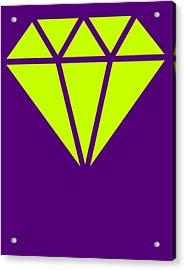 Purple Diamond Yellow Acrylic Print