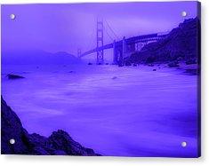 Purple Golden Gate Fog Acrylic Print