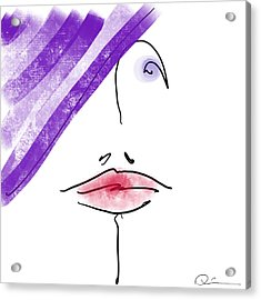 Purple Hat Acrylic Print