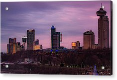 Purple Haze Skyline Acrylic Print