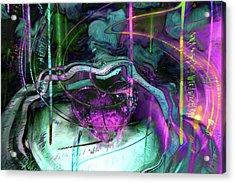 Purple Heart Acrylic Print