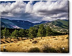 Acrylic Print featuring the photograph Purple Mountains by James L Bartlett