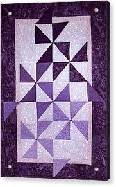 Purple Pinwheels Pirouetting Acrylic Print