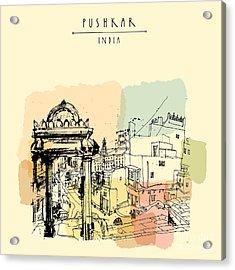 Pushkar, Rajasthan, India. Street Of Acrylic Print