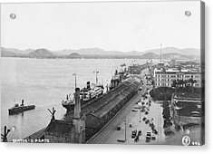 Quayside In Santos Acrylic Print by Hulton Archive