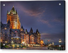 Quebec City, Chateau Frontenac Hotel Acrylic Print by Buena Vista Images
