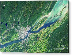 Quebec City From Space Acrylic Print