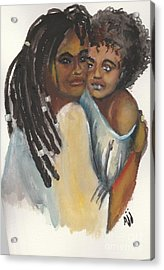 Acrylic Print featuring the painting Queen Love by Saundra Johnson
