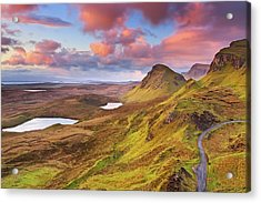 Quiraing View Acrylic Print by By Michael Breitung Photography -> Www.mibreit-photo.com