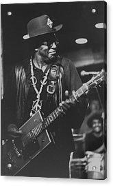 R & B Artist Bo Diddley Playig Guitar Acrylic Print