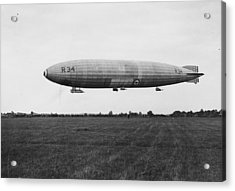 R34 Airship Landing Acrylic Print by Jimmy Sime