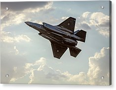Acrylic Print featuring the photograph Raaf F-35a Lightning II Joint Strike Fighter by Chris Cousins