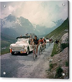 Racing Cyclists Of The Tour De France Acrylic Print by Keystone-france