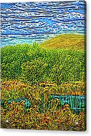 Acrylic Print featuring the digital art Radiant Peaceful Day by Joel Bruce Wallach