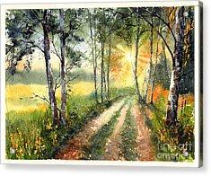 Radiant Sun On The Autumn Sky Acrylic Print