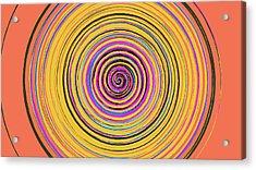 Radical Spiral 19023 Acrylic Print by REVAD David Riley
