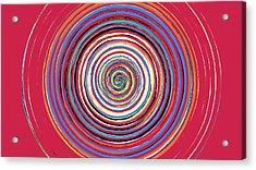 Radical Spiral 19044 Acrylic Print by REVAD David Riley