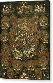 Rahula And His Assembly Acrylic Print