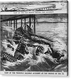 Railway Accident Acrylic Print by Hulton Archive