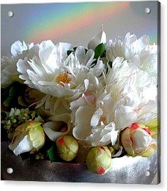 Rainbow Buds N' Blooms Three Acrylic Print