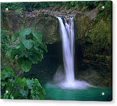 Rainbow Falls Cascading Into Pool, Big Acrylic Print by Tim Fitzharris/ Minden Pictures