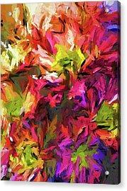 Rainbow Flower Rhapsody In Pink And Purple Acrylic Print