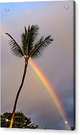 Rainbow Just Before Sunset Acrylic Print