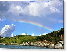 Rainbow Over Buck Island Lighthouse Acrylic Print